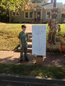 Jack with 'insert candy here' sign