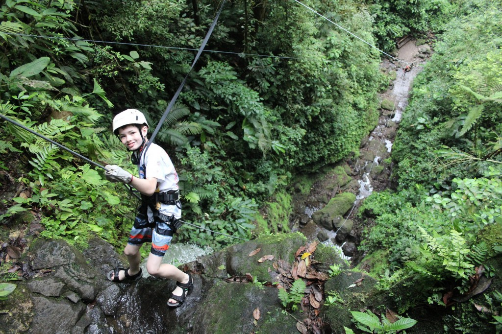 photo of Jack rappelling in Costa Rica